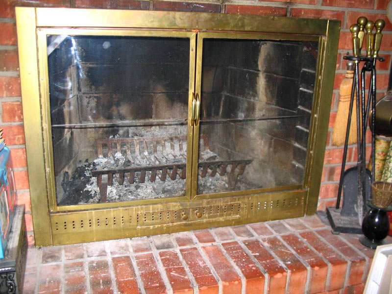 Fireplace Covers For Damaged Doors Insulated Decorative
