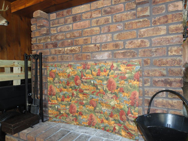 Fireplace insulating covers insulated decorative - Ideas to cover fireplace opening ...