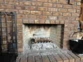 GAS BURNING FIREPLACE–AN OPEN FIREPLACE