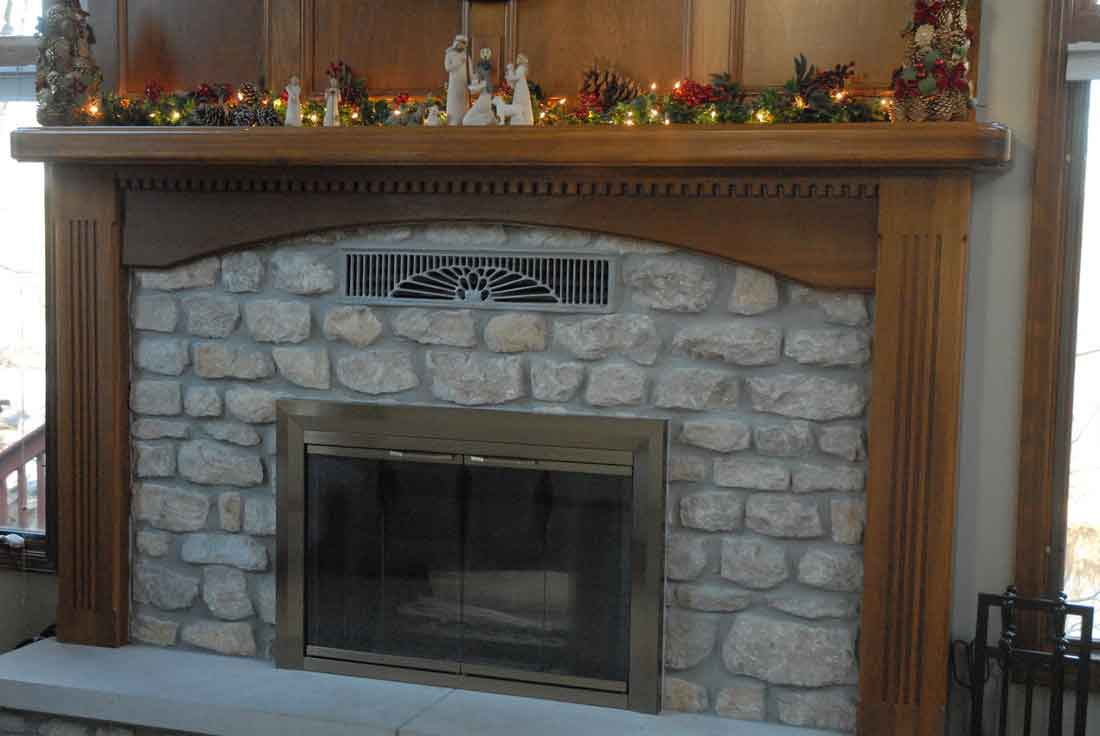 Insulated magnetic decorative fireplace cover fireplace Decorative fireplace covers