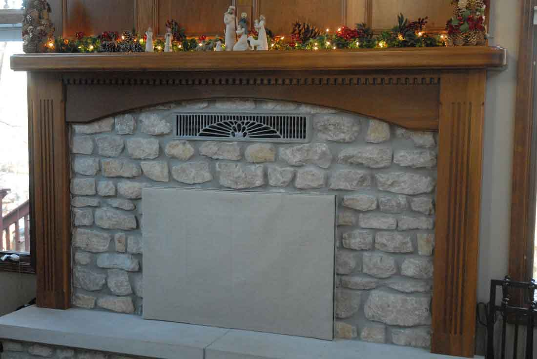 Summer Fireplace Covers