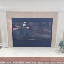 Fireplace Fashion covers on fireplaces