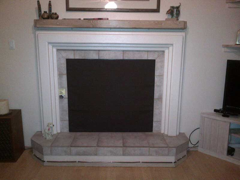 Decorative fireplace covers