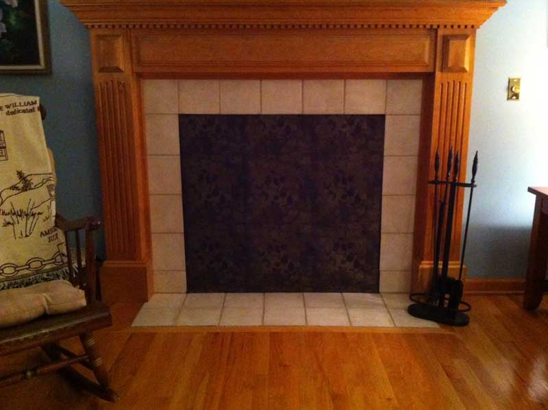Fireplace fashion fireplace cover insulated decorative Decorative fireplace covers