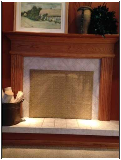 Fireplace fashion cover in place saving energy