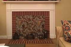 OPEN FIREPLACE with ANGLE ADAPTER BAR and FIREPLACE FASHION COVER