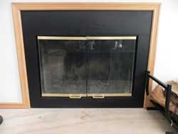 Wood burning- with glass doors
