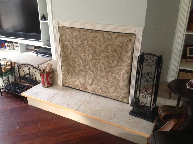 Fireplace covers - Insulated Decorative Magnetic Fireplace Covers ...