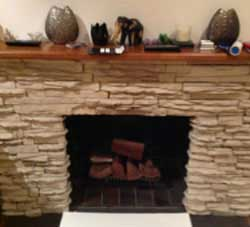 Gas Burning-An Open Fireplace