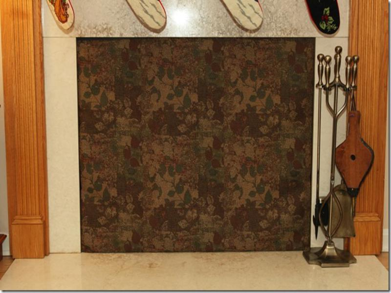 Fireplace covers saving money insulated decorative Decorative fireplace covers