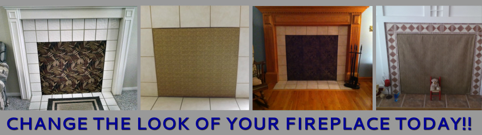 Fireplace Covers for damaged doors - Insulated Decorative Magnetic ...